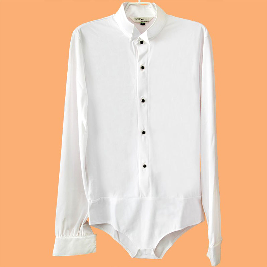 Mens Ballroom Bodysuit Shirt Multiple Options Exquisite Design