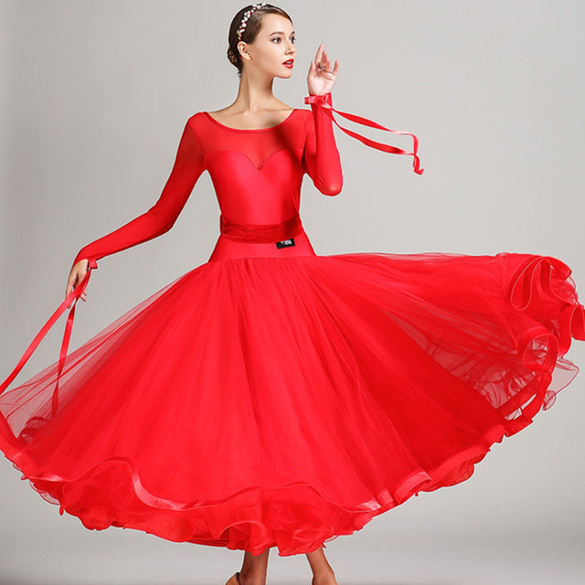 Sweetheart Neck w/ Mesh Ballroom Performance Dress