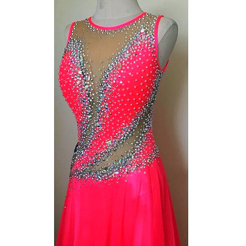 Sleeveless Open Back American Smooth Ballroom Dance Dress