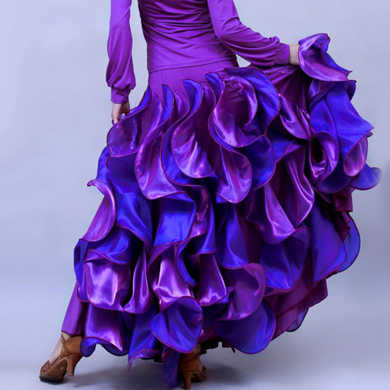 Cascade of Ruffles! Flamenco, Tango, Ballroom Showcase & Performance Skirt