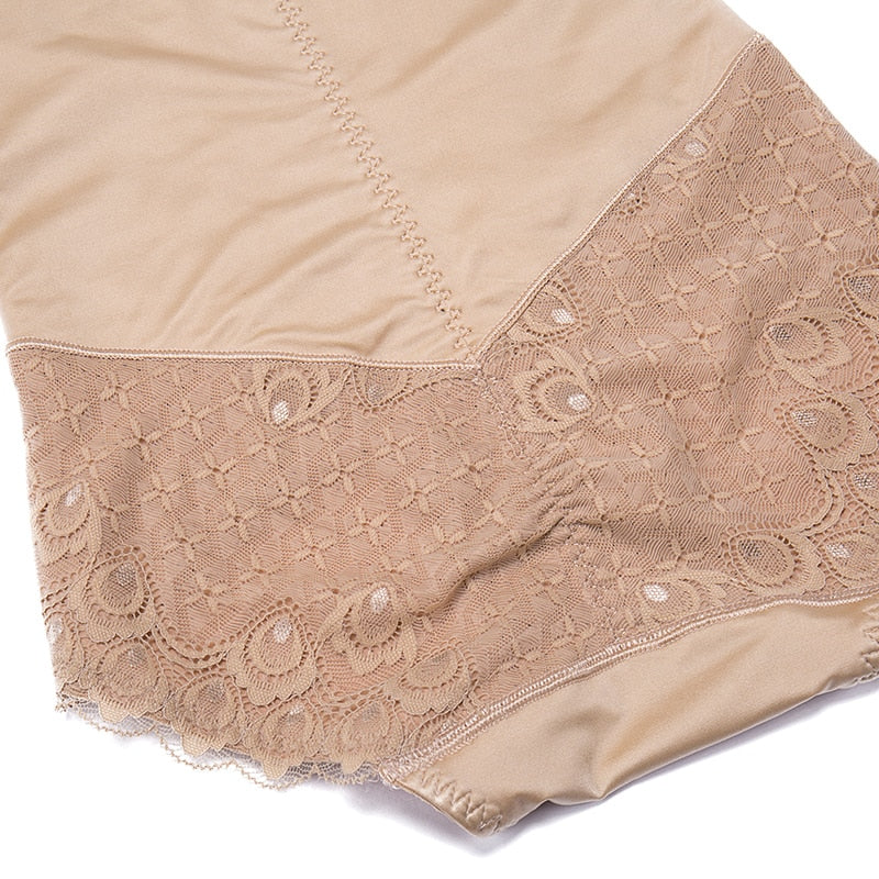 High Waist Lace Panel Slimming Shaper Brief- 2 Colors