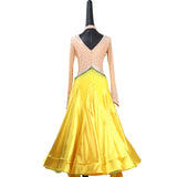 Sunshine Yellow American Smooth Ballroom Dance Dress