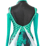 Teal Green & White International Standard Ballroom Dance Dress