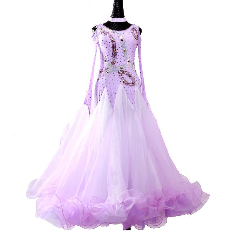 Soft Lavender International Standard Ballroom Dance Dress