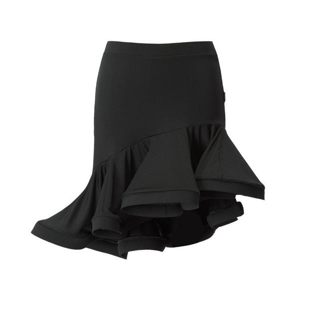 Mermaid Style Asymmetric Swing Dance Skirt
