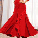 Ruffled & Ruched Ballroom Performance Skirt