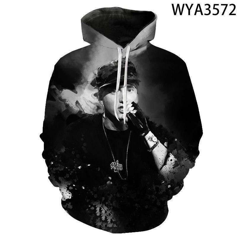 2020 Spring and Autumn Winter Fashion Wild Eminem 3D Printing Men and Women Street Trend Hoodie