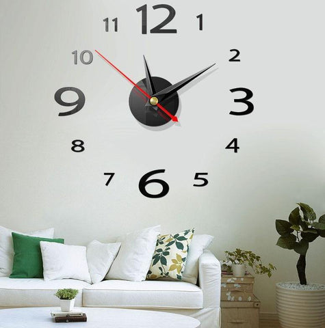 3D Mirror Acrylic Wall Clock Seek Creation