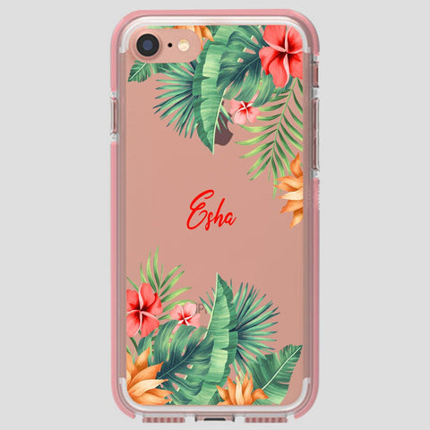 Green Floral Name Case