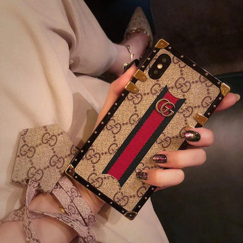 LV Square Leather Phone Case Seek Creation