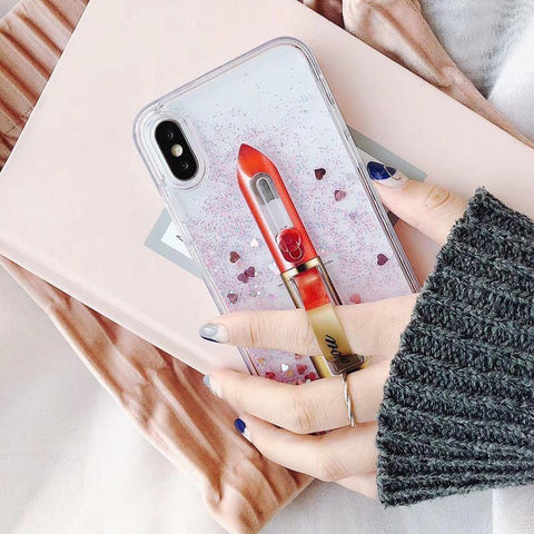 Lipstick Glitter iPhone Case - Seek Creation