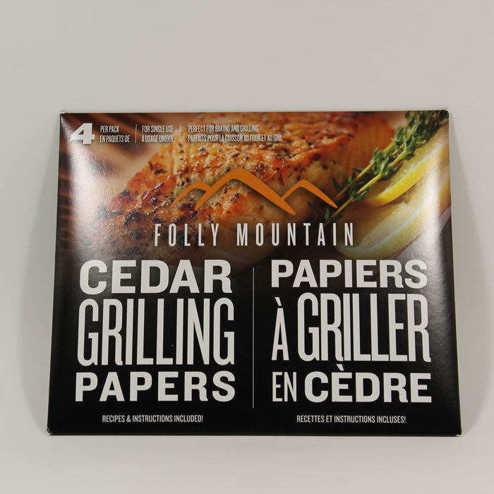 Cedar Grilling Papers - 4 per pack - Folly Mountain Grilling