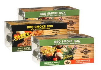 The BBQ Chef - BBQ Smoke Box - 2 pack - Sweet Cherry and Extreme Hickory