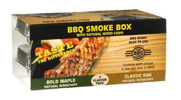 BBQ Smoke Box maple and oak the BBQ chef