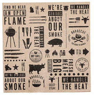 BBQ Printed Kraft Paper Cocktail Napkins