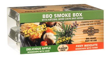 The BBQ Chef - BBQ Smoke Box - 2 pack - Delicious Apple and Fiery Mesquite