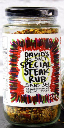 Davids's No Salt Special Steak Rub