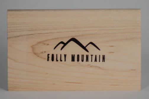 Maple cheese slicer - board scraper - Folly Mountain Grilling