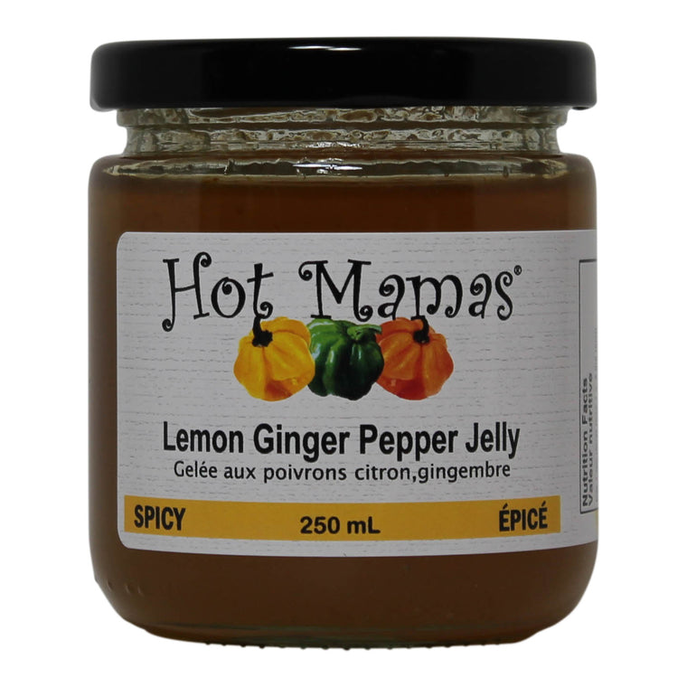 Hot Mamas Lemon Ginger Pepper Jelly