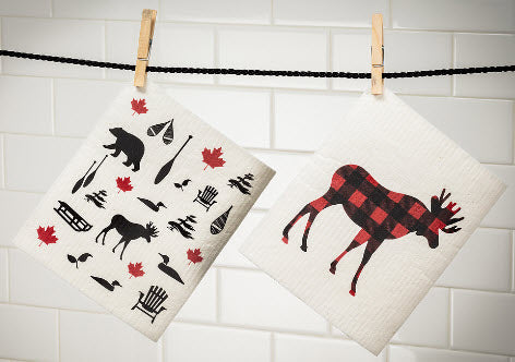 Country Moose Swedish Dish Towel 4