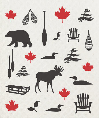 Country Moose Swedish Dish Towel 5
