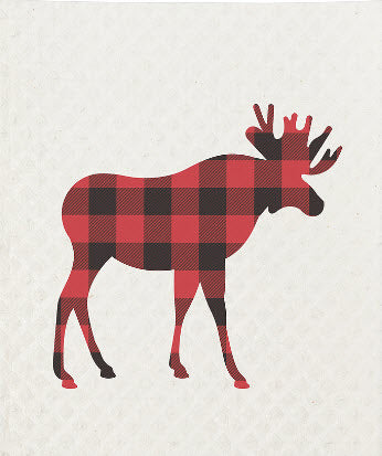 Country Moose Swedish Dish Towel 2