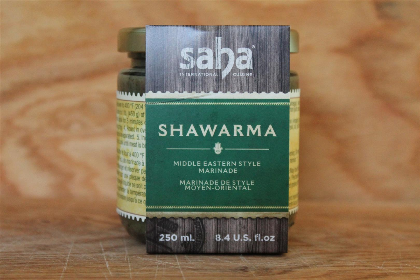 Saha International Cuisine Shawarma Marinade - 250ml