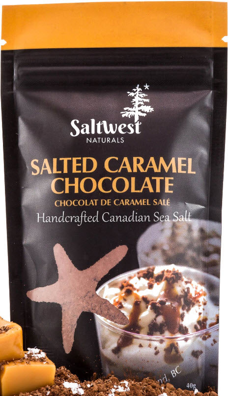 Saltwest Salted Carmel Chocolate Sea salt (50g)