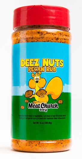 Meat Church BBQ - Deez Nuts Pecan Rub -14oz (396g)