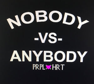 Nobody VS. Anybody Pull over sweatshirt