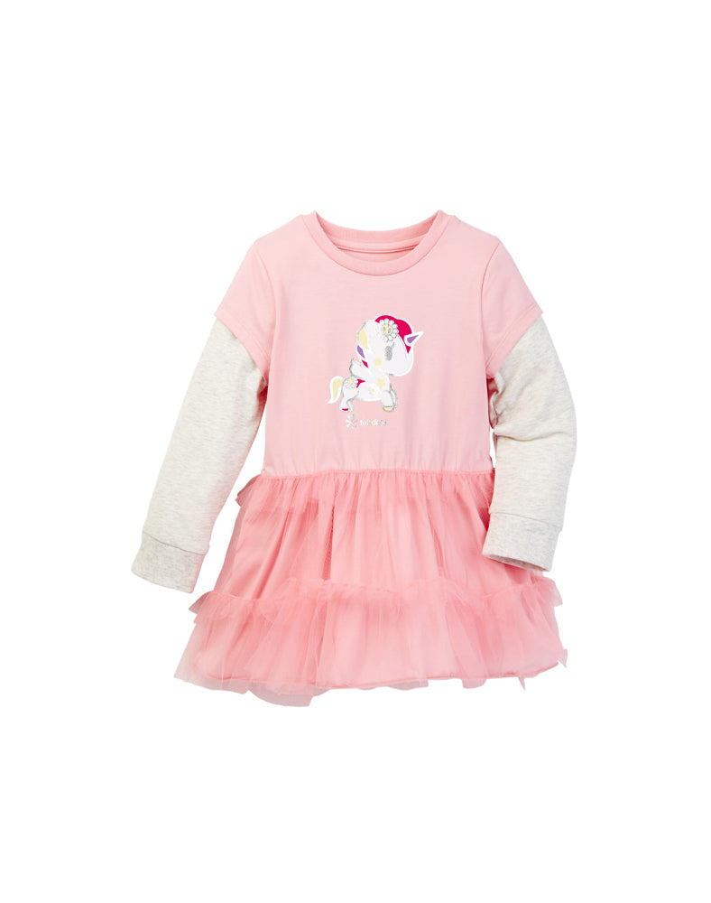 tokidoki Bambino Unicorno Tulle Ruffle Layered Dress