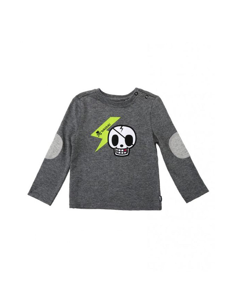 tokidoki Bambino Skully Elbow Patch Long Sleeve Tee