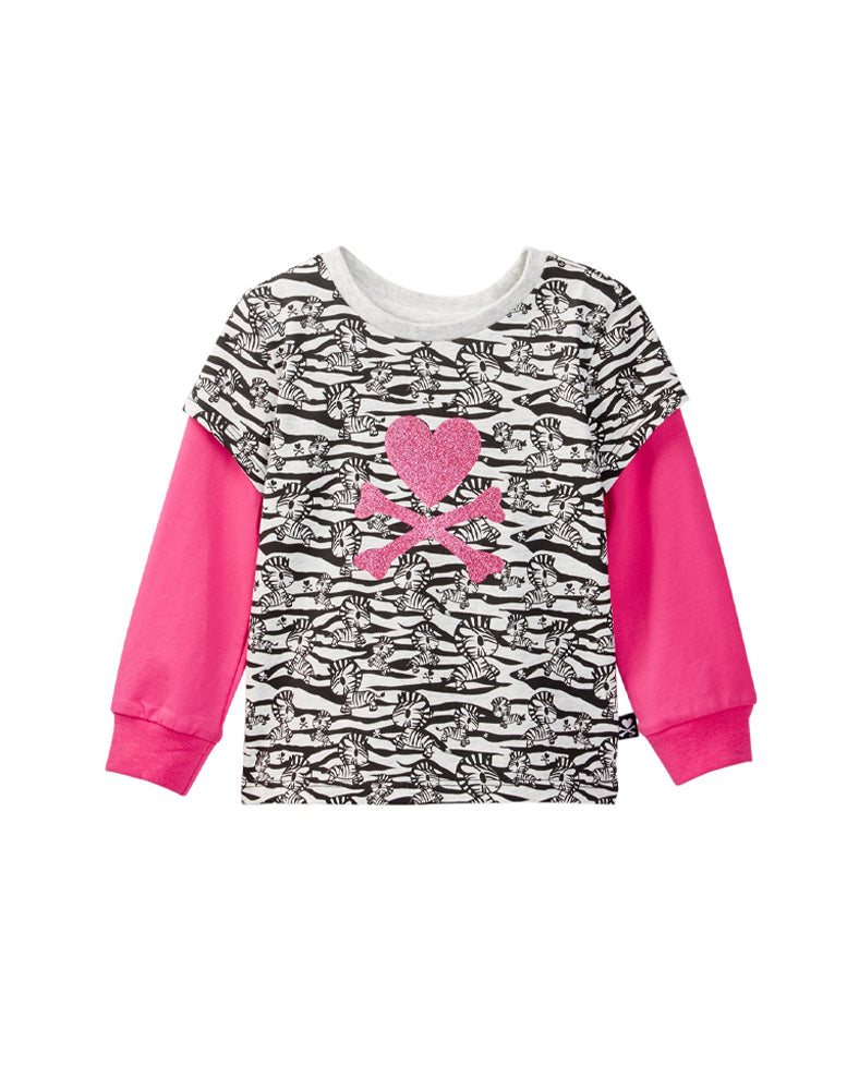 tokidoki Bambino Twofer Long Sleeve Tee (Light Grey)