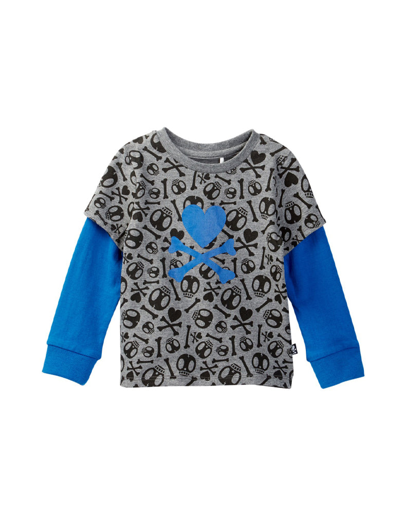 tokidoki Bambino Twofer Long Sleeve Tee (Dark Grey)