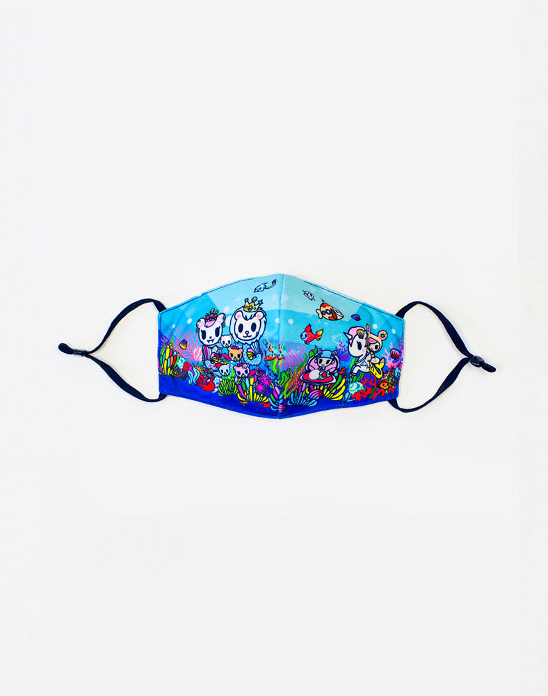 Sea Punk Reusable Mask (Kids Size) Front