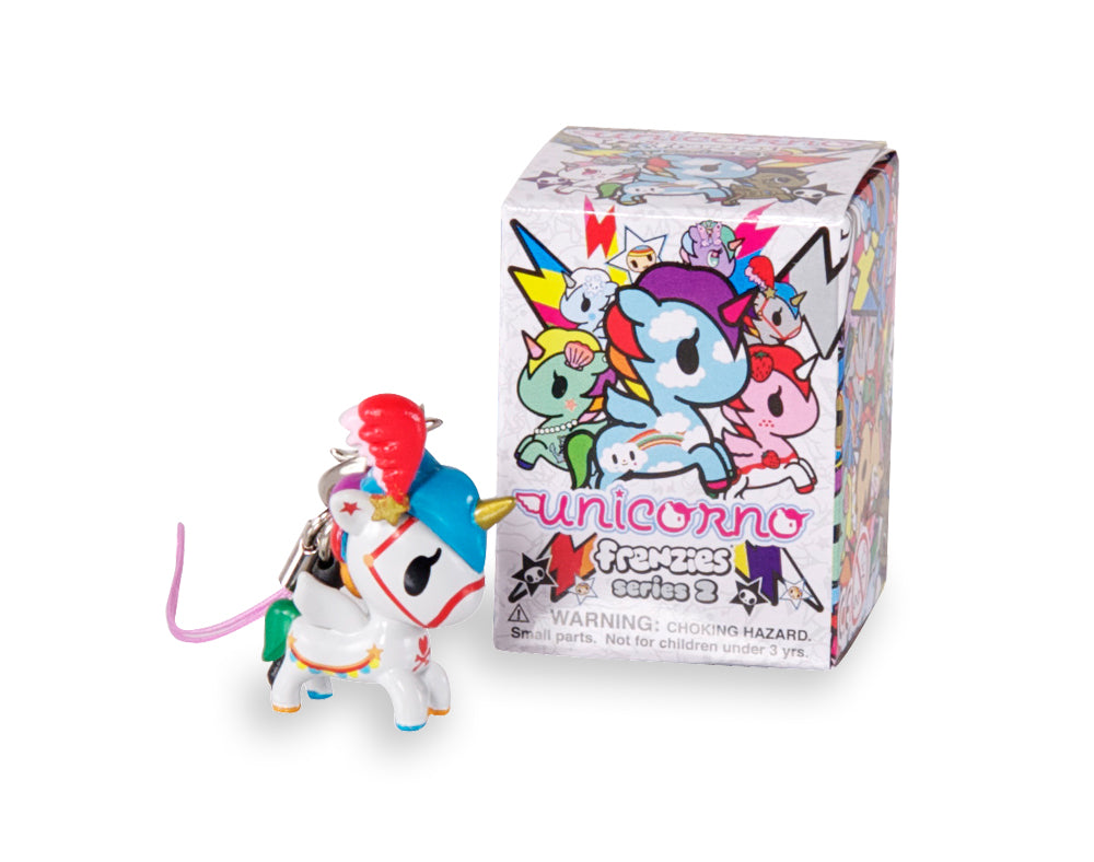 Unicorno Frenzies Series 2 figure next to box