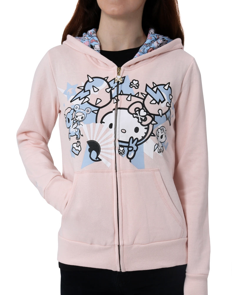 tokidoki x Hello Kitty Electric Kitty Hoodie front