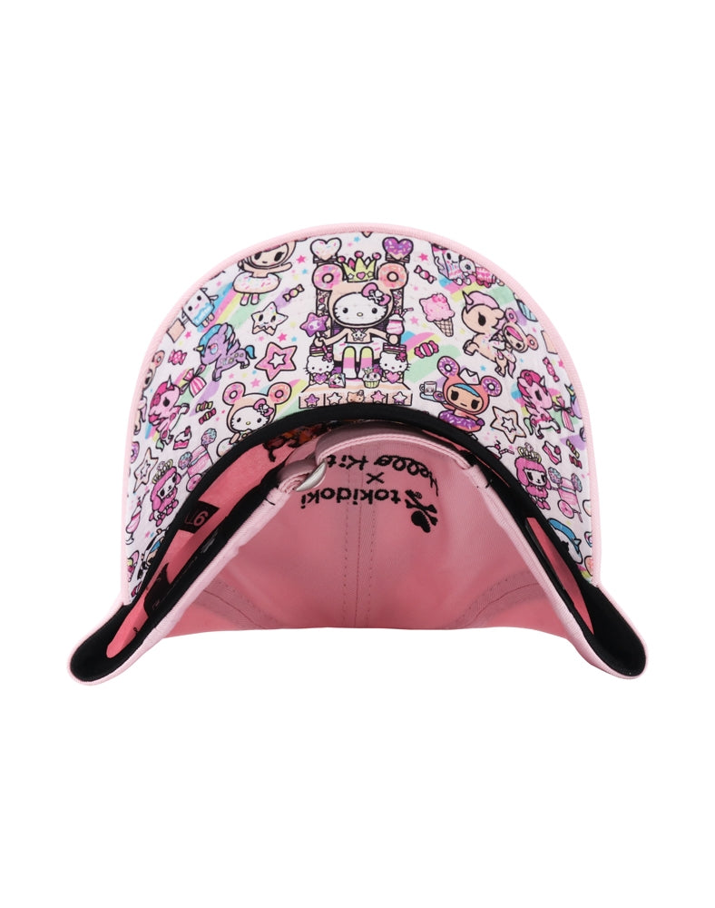 tokidoki x Hello Kitty Super Sweet Women's Dad Hat brim underside