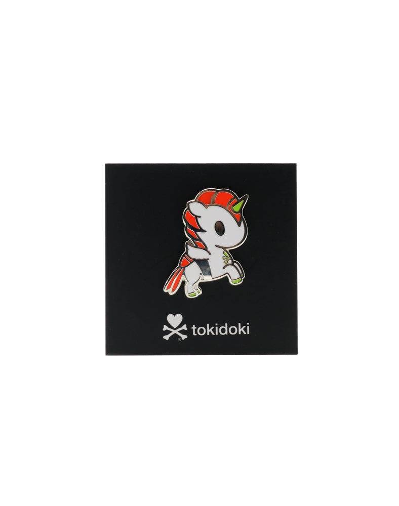 Wasabi Unicorno Enamel Pin with backing