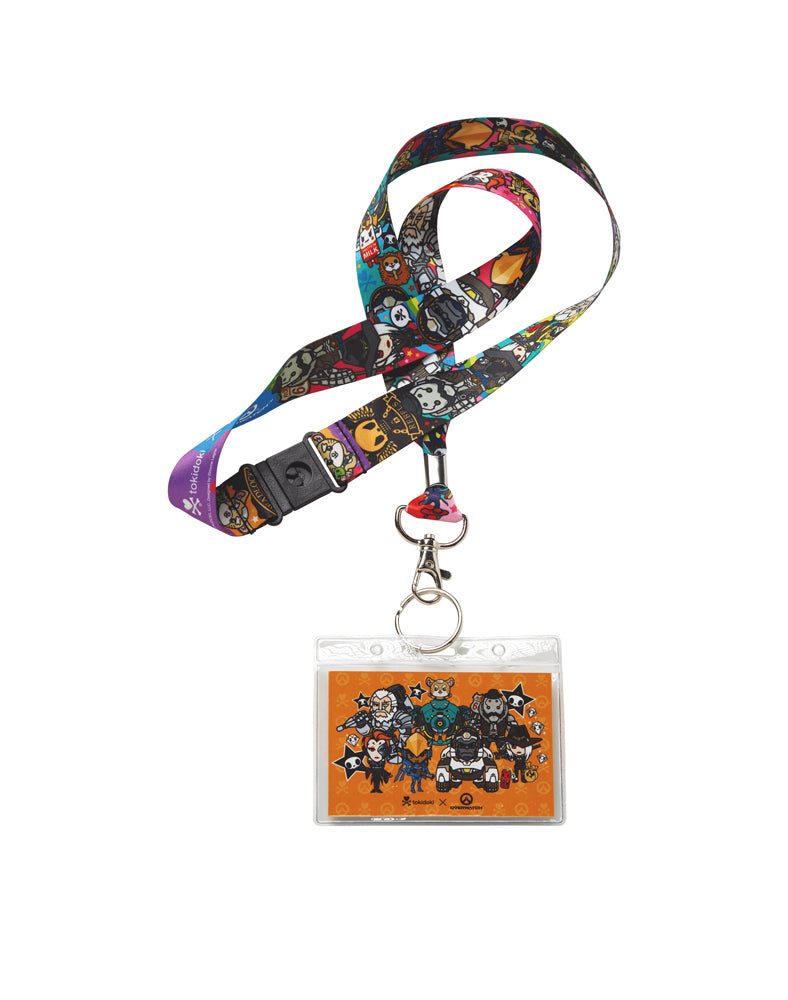 tokidoki x Overwatch Team Lanyard (Orange) Close Up