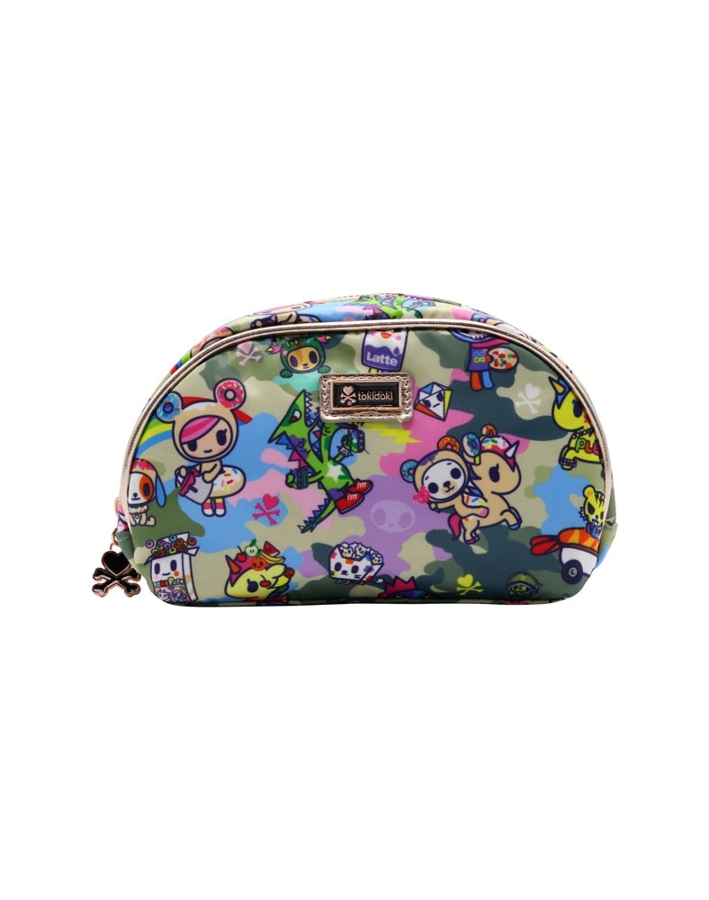 Camo Kawaii Cosmetic Bag front