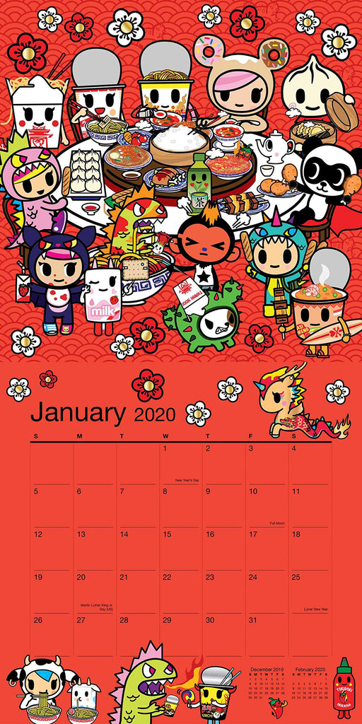 tokidoki Wall Calendar 2020 sample