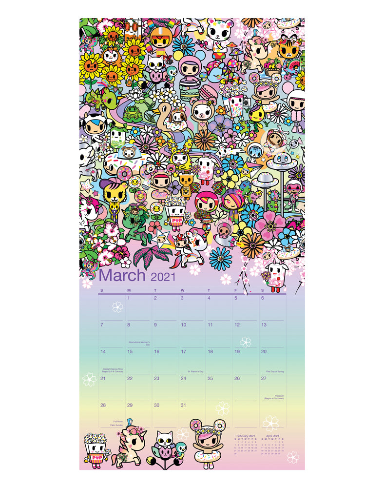tokidoki Wall Calendar 2021 Sample 1