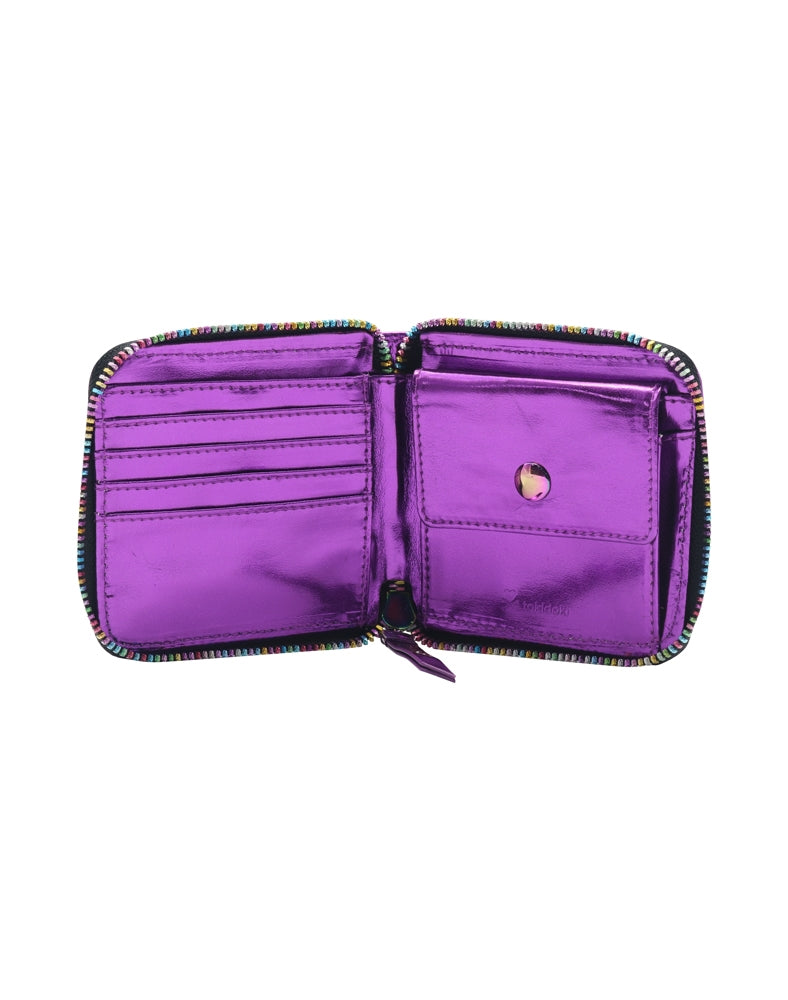 Galactic Dreams Small Zip Around Wallet unzipped inside