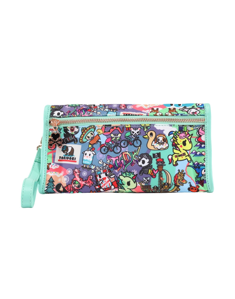 California Dreamin' Wristlet Cosmetic Bag back