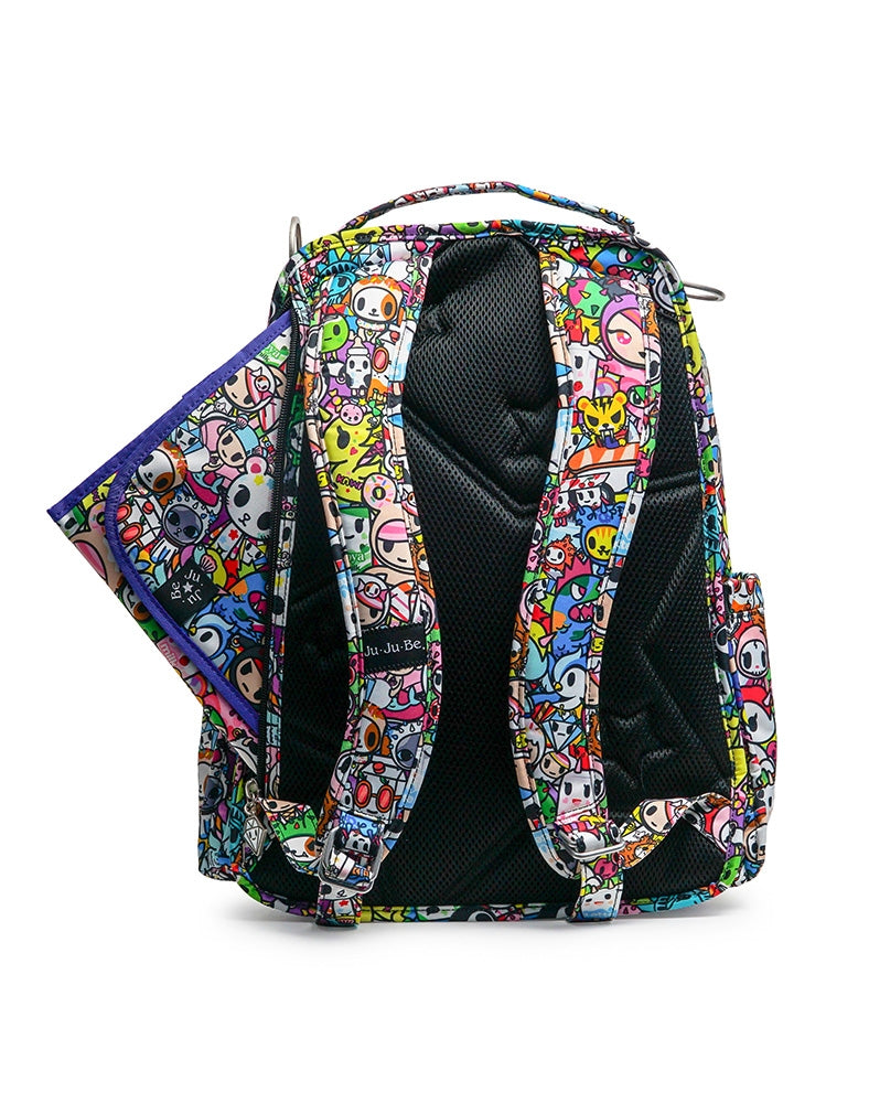 tokidoki x Ju-Ju-Be Be Right Back Backpack Iconic 2.0 back with changing pad showing