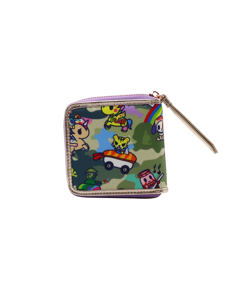 Camo Kawaii Small Zip Around Wallet back