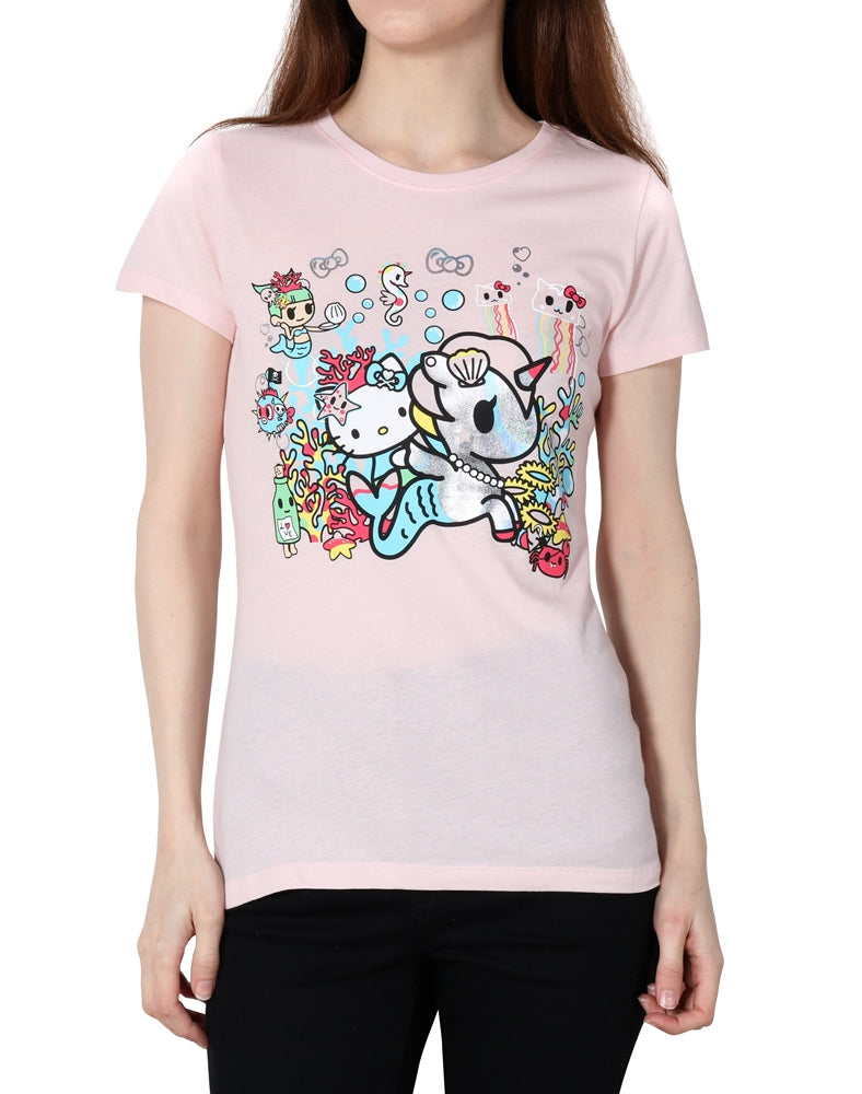 tokidoki x Hello Kitty Pearl Kitty Tee front