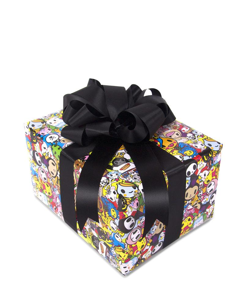 tokidoki All Stars Wrapping Paper on gift