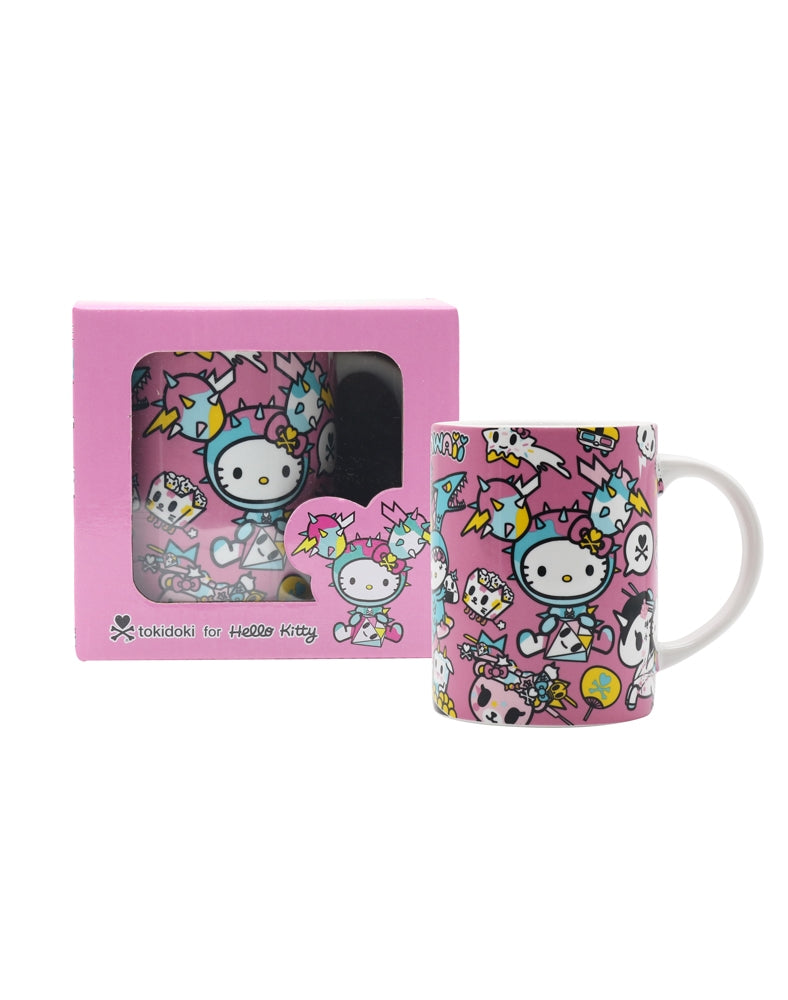 tokidoki x Hello Kitty Kawaii Ceramic Mug in box and out of box